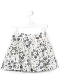 Miss Blumarine Floral Lace Skirt