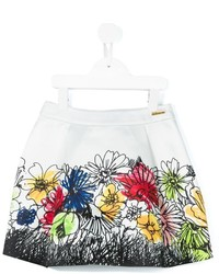 Moschino Kids Floral Print Skirt