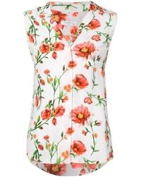 Equipment sleeveless floral print shirt medium 290294