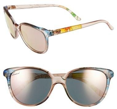 14f23cc19 Gucci 55mm Floral Print Sunglasses Beige Floral, $410 | Nordstrom ...