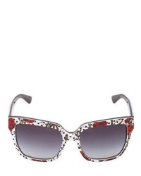Dolce & Gabbana Carnation Polka Dot Acetate Sunglasses
