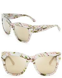 Dolce & Gabbana Dolcegabbana Floral Mirrored Wayfarer Sunglasses