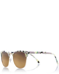 White floral print retro sunglasses medium 290311