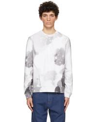 Fendi White Gradient Flower Print Sweatshirt