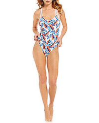 Vince Camuto Rainforest Mesh Racerback One Piece
