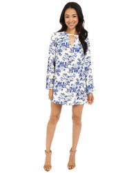Brigitte Bailey Hayden Printed Swing Dress With High Neck