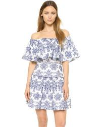 Nicholas N Embroidered Off Shoulder Dress