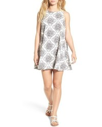 RVCA Reve Illusorie Floral Print Swing Dress