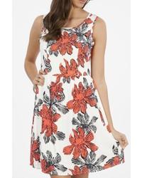 Peach love california floral tank dress medium 851898
