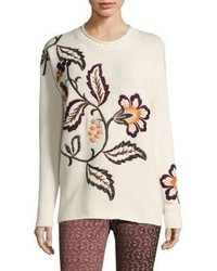 Etro Wool Cashmere Floral Sweater