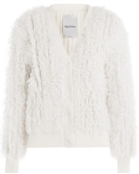 Valentino Cashmere And Shearling Cardigan