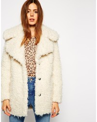 Collection faux curly fur coat medium 186392