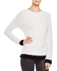 Three Dots Bailey Two Tone Textured Sweater