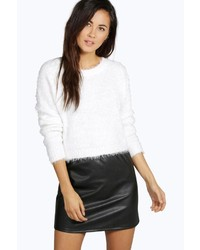 Boohoo Rose Fluffy Crop Jumper
