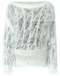 Chloé Fluffy Crochet Sweater
