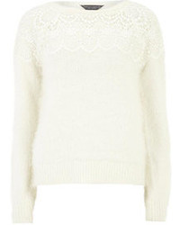 Dorothy Perkins Tall Fluffy Lace Yoke Jumper