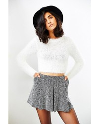 MinkPink Freckles Fuzzy Cropped Sweater
