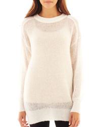 MNG by Mango Long Sleeve Fuzzy Tunic Sweater