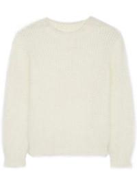 Saint Laurent Scoop Back Angora Blend Sweater