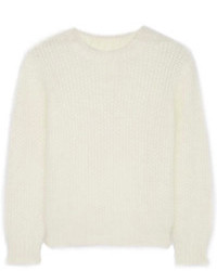 Saint Laurent Scoop Back Angora Blend Sweater