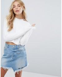 Bershka fluffy crop sweater medium 6365083