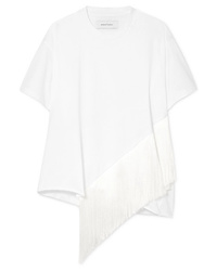 MARQUES ALMEIDA Oversized Fringed Cotton Jersey T Shirt