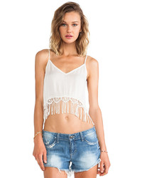 Raga Fringed Crop Top