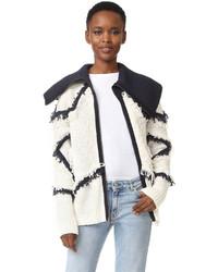 BCBGMAXAZRIA Star Fringe Knit Jacket