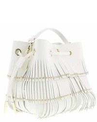 Roberto Cavalli Bucket Bag Natalie 001 White Shoulder Bag