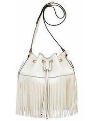 Mellow World Casey Fringe Drawstring Bucket Bag