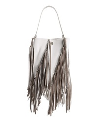 Proenza Schouler Medium Hex Fringe Calfskin Leather Bucket Bag