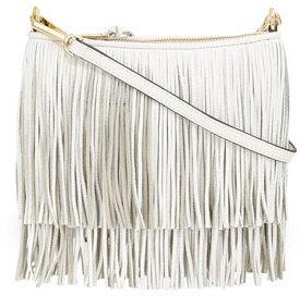 c4b64d629 Rebecca Minkoff Finn Fringe Crossbody Bag White, $195   Neiman ...