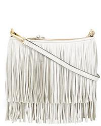 Rebecca Minkoff Finn Fringe Crossbody Bag White