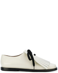 Marni Fringe Lace Up Loafers