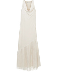 Elizabeth and James Fringed Draped Maxi Dress