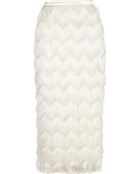 Halfpenny London Turner Fringed Satin Skirt