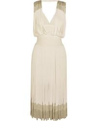 Herv lger fringed dgrad bandage dress white medium 3947370