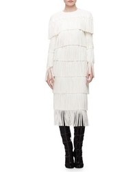 Tom Ford Tiered Fringe Cutout Shift Dress