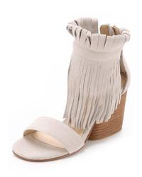 Matiko Morgan Fringe Suede Sandals