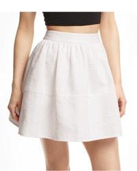Express High Waist Jacquard Full Skirt