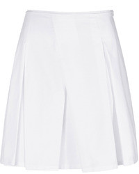 Jil Sander Navy Cotton Pleated Skirt