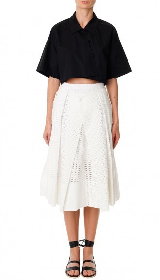 Tibi Riko Eyelet Origami Skirt Where To Buy How To Wear