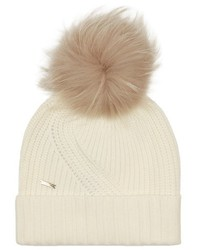 Woolrich John Rich Bros Fur Pompom Beanie Hat