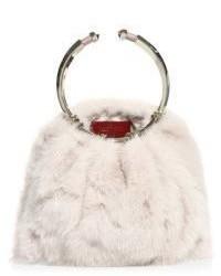 Valentino Bepop Mink Fur Loop Clutch