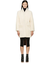 Meteo by off white shearling coat medium 332915