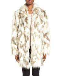 Phoebe multicolor faux fur coat medium 972169