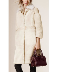 Burberry Prorsum Shearling And Suede Car Coat