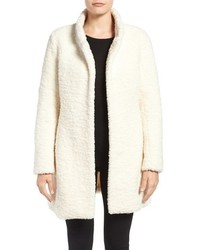 Textured faux fur coat medium 806989