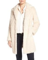 Eliza J Faux Persian Lamb Coat