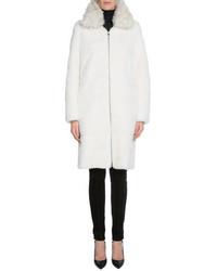 Tom Ford Mink Fur Long Coat Wremovable Collar White